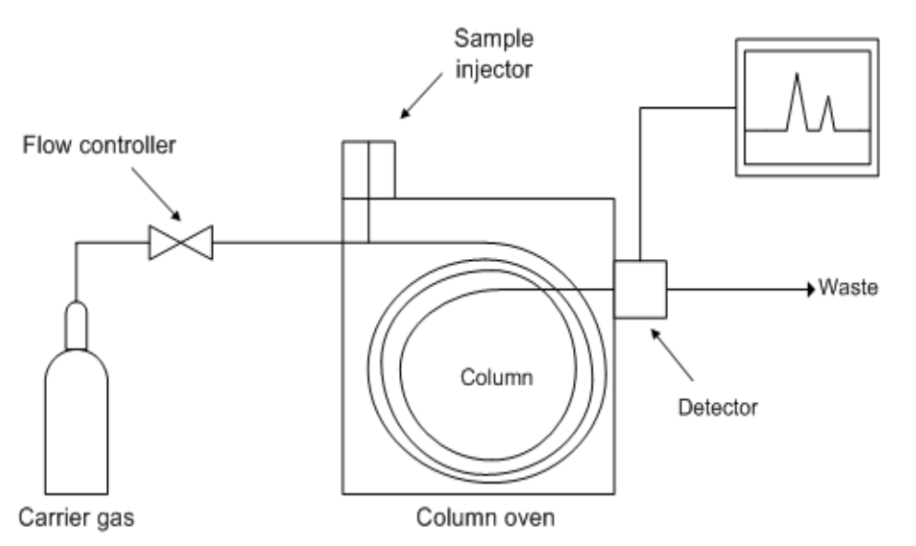 Figure 3. Diagrammatic representation of gas chromatograph