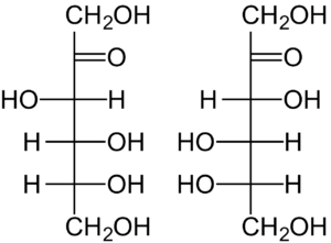 Figure 3. D and L Structures of Fructose