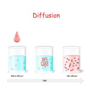 Figure 2. Schematic representation of process of diffusion