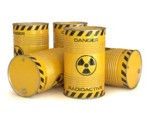 Figure 3. Radioactive waste in barrels