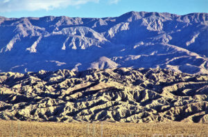 Figure 9. San Andreas Geologic Fault Line at sunrise in Coachella Valley near Palm Springs California USA