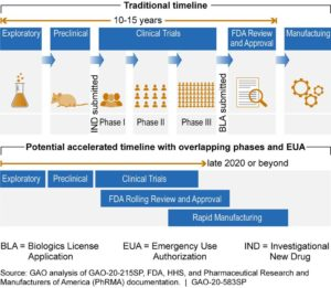 Figure 1. Traditional timeline of vaccine development